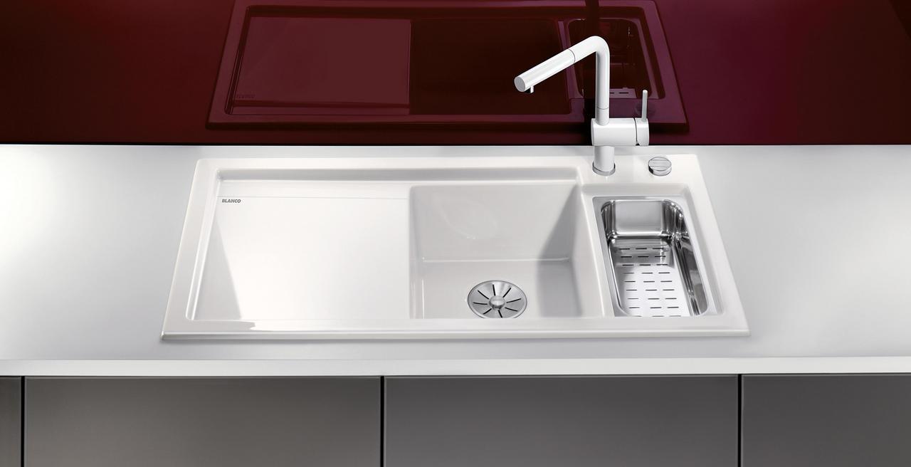 AXON - 有配备宽大沥水板、辅星盆及下水提篮的款式可供选择,如您所愿