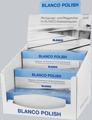 POLISH für Edelstahlspülen, 12 x 150 ml Thekenaufsteller