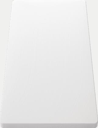 Planche à découper en plastique blanc