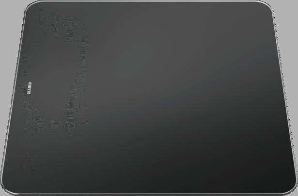 Snijplank in zwart veiligheidsglas