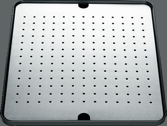 Afdruipvlak uit kunststof met roestvrijstalen inzet