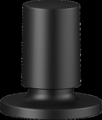 Zugknopf rund Messing schwarz matt