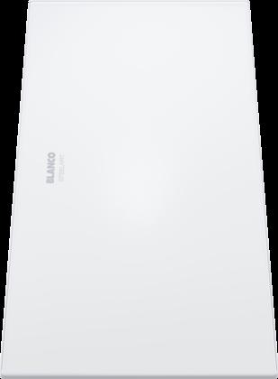 白色玻璃切菜板,可在滤水篮上使用
