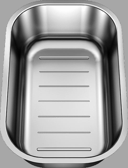 BLANCOLANTOS 6 S-IF Centric Edelstahl Bürstfinish mit Afb mit Resteschale