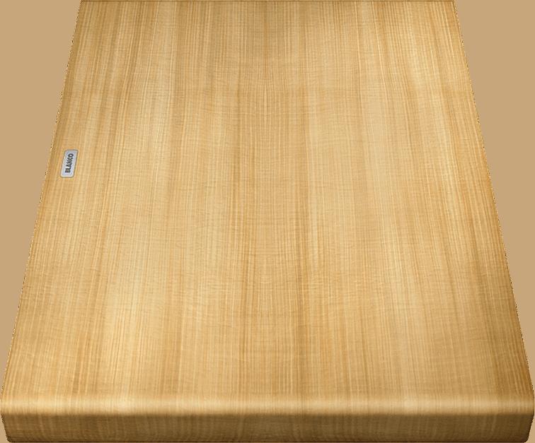 BLANCOAXIA III 6 S SILGRANIT PuraDur mit Holz-Schneidbrett InFino mit Ablauffernbedienung
