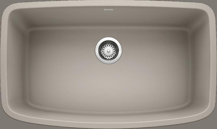 Valea Super Single Silgranit Concrete Gray Null Blanco