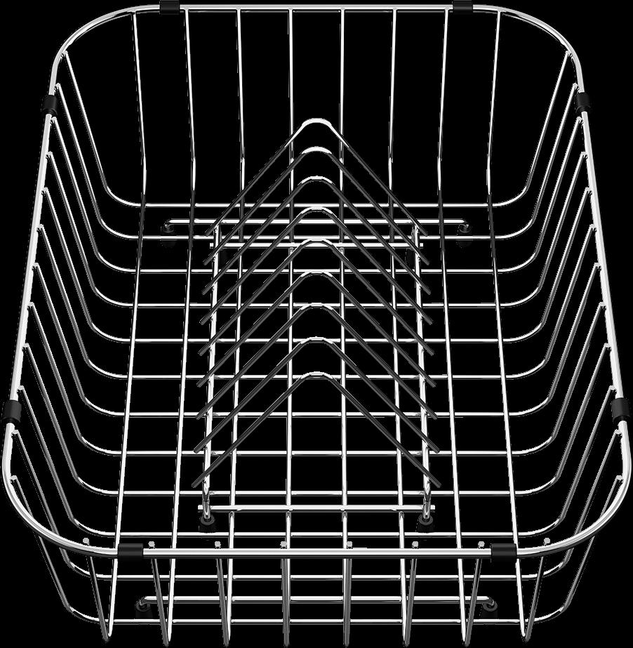 Корзина для посуды с держателями из нержавеющей стали