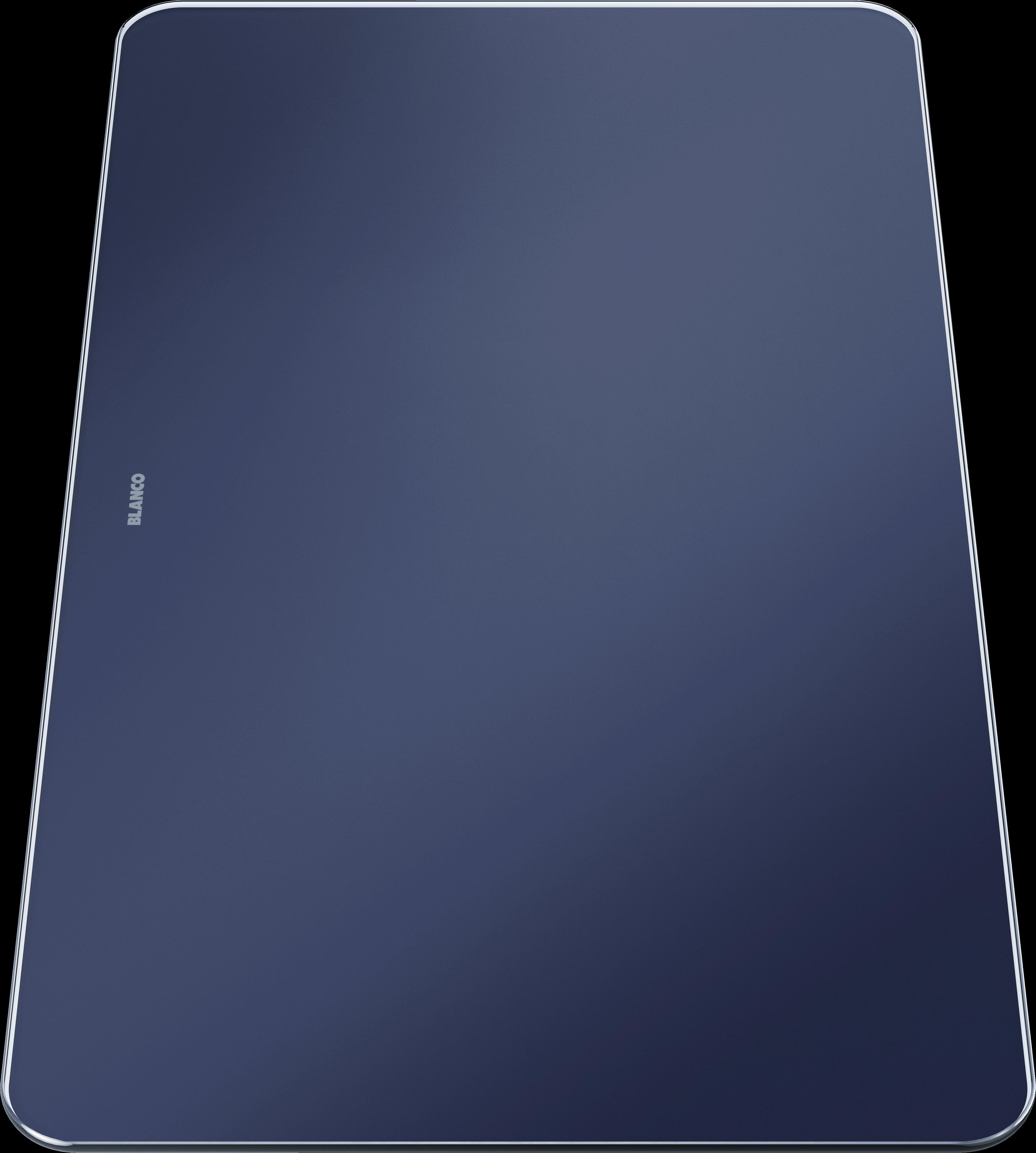 Glass cutting board in velvety matt night blue