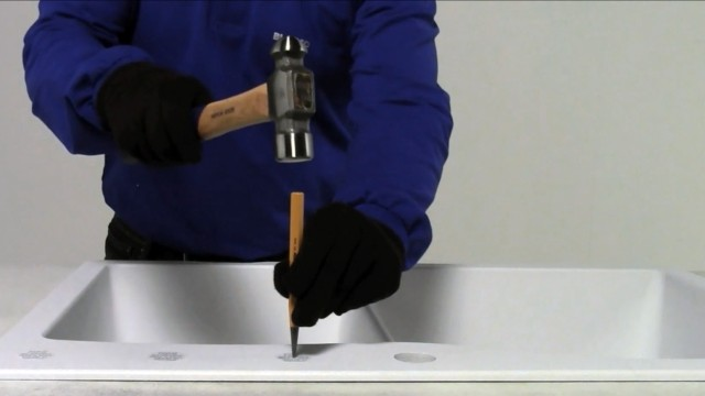 How to punch a faucet hole in a SILGRANIT sink   5 easy steps