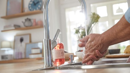 Water plays an essential role in kitchen life.