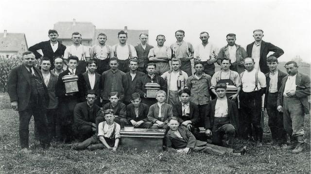 Heinrich Blanc et son personnel, 1926