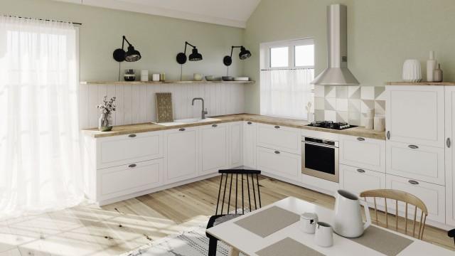Eine Küche im Scandi-Look
