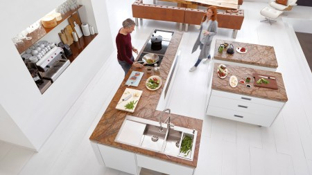A kitchen from above