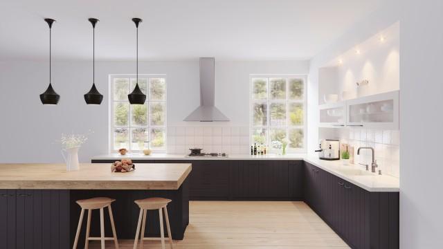 Schwarz in der Küche