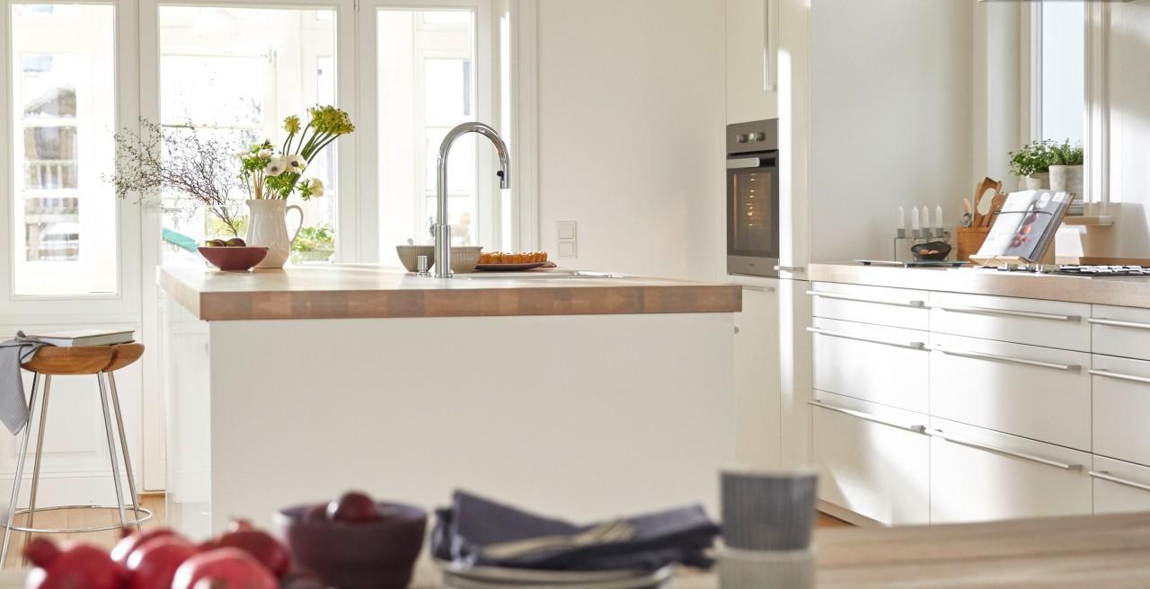 Wohlfühloase und Küchentraum – Kochinsel mit Spüle