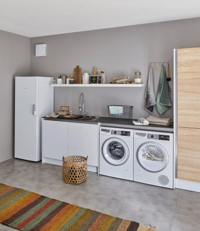Ein Hauswirtschaftsraum mit einer praktischen Spüle von BLANCO