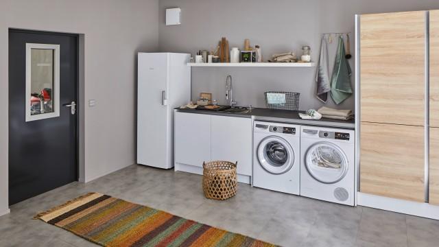 Ein Hauswirtschaftsraum mit BLANCO Spüle