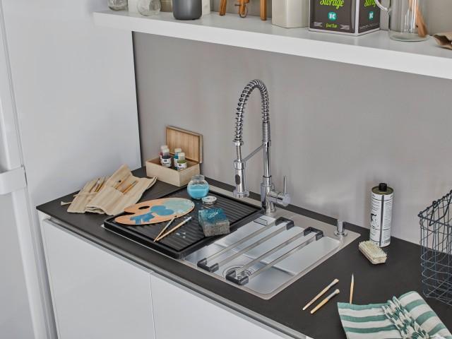 Eine BLANCO Spüle in einem Hauswirtschaftsraum