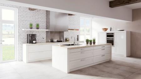 Rustikal trifft auf modern: Landhausküchen gibt es in vielfältigen Designs.