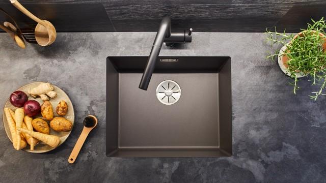 black Silgranit sink