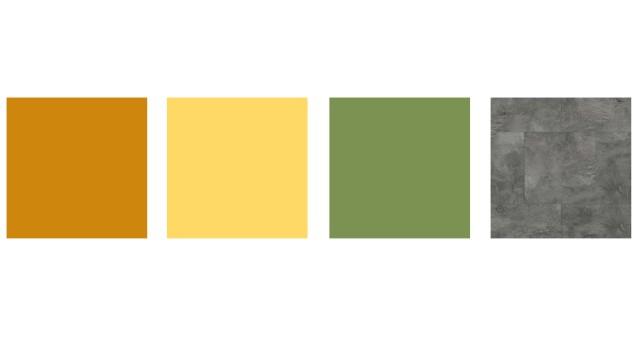 Natürliche Farben gepaart mit Farbakzenten passen zur Slow Living Einrichtung.