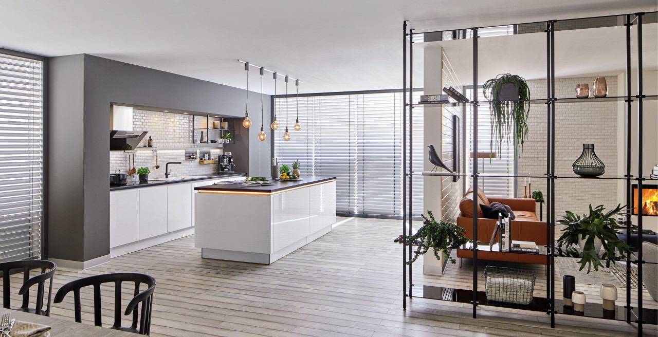 Urban-style eat-in kitchen