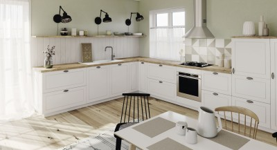 an open kitchen