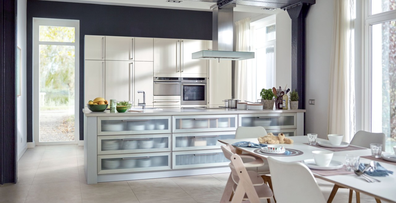Fancy more storage space? Kitchen islands are great for storing plates, pots and pans.
