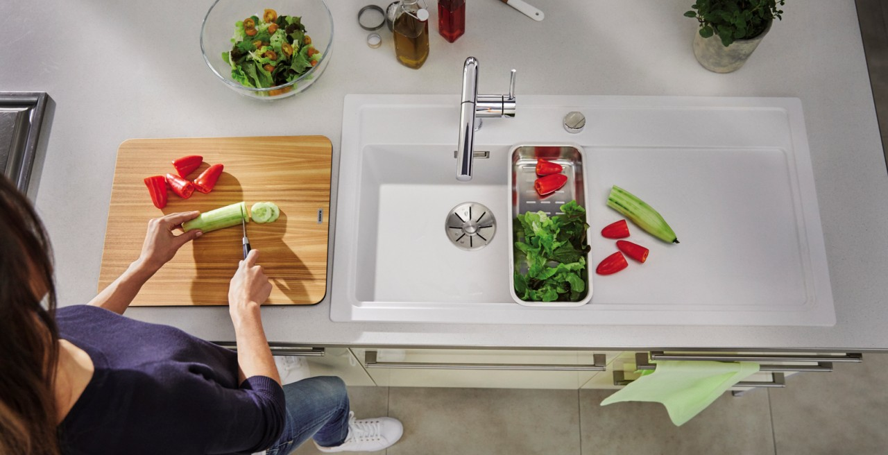 Everything in the kitchen revolves around the sink – before, during and after cooking