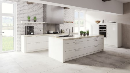 The I-kitchen is impressive for its clean line and uncluttered design.
