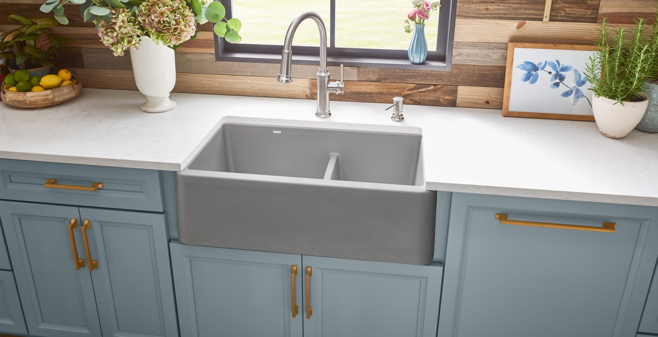 BLANCO IKON 33 SILGRANIT Farmhouse Kitchen Sink
