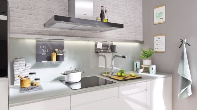 With little in the way of shelves or storage space, small kitchens need to be well planned.