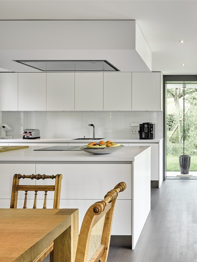 Minimalistic kitchen with a large window