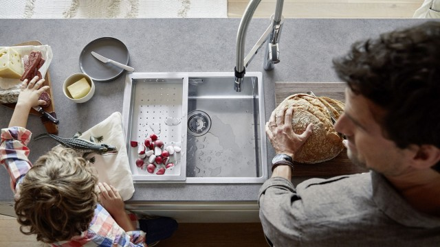 The right accessories transform your sink into a preparation station.