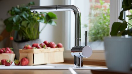 Low-pressure mixer tap