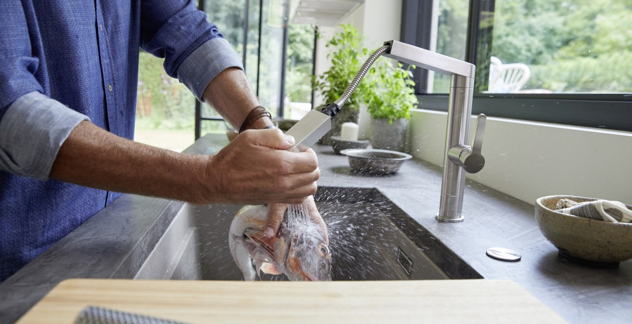 BLANCO kitchen mixer taps make food preparation quick and easy