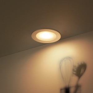 Warm white recessed lighting spotlight