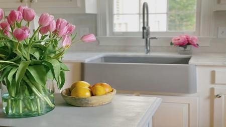 Concrete Gray Farmhouse Kitchen Sink