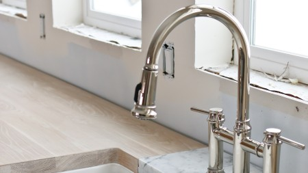 BLANCO EMPRESSA Bridge Faucet Farmhouse Sink