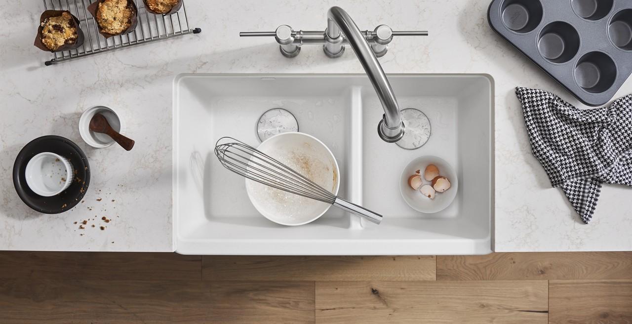Blanco IKON Farmhouse Sink Apron Front in White