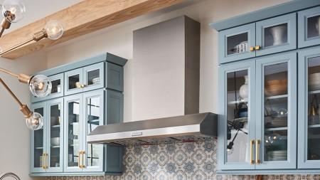 Craftsman-style or Shaker kitchen cabinets are known for their simple lines