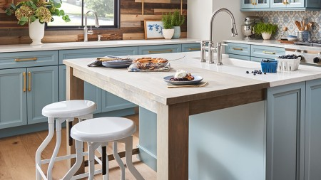 A butcher block kitchen island is a perfect combination of functionality and form.