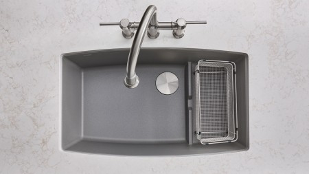 401708 PERFORMA CASCADE Kitchen Sink featuring 442505 Empressa Bridge in Stainless Steel