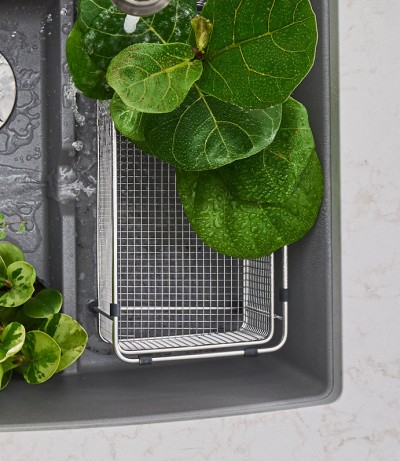 Water plants in your BLANCO sink for no stress kitchen mess