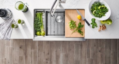 Robinet de cuisine BLANCOCULINA - Semi-professionnel à bec rétractable