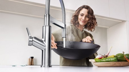 The SOLENTA SENSO touchless faucet is a great way to reduce the spread of germs around the house