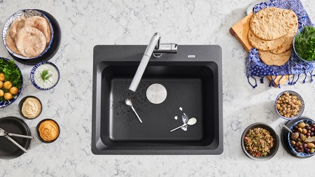 Drop-in kitchen sinks are the easiest to install and can be installed into any countertop material
