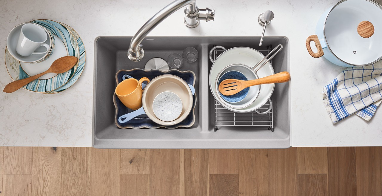Make Thanksgiving preparations a breeze with BLANCO's IKON 33 1.75 SILGRANIT kitchen sink.