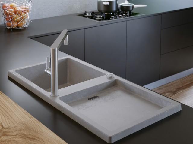 Charakterstarkes Unikat: Blanco Adon XL 6 S in der neuen Farbe Beton-Style