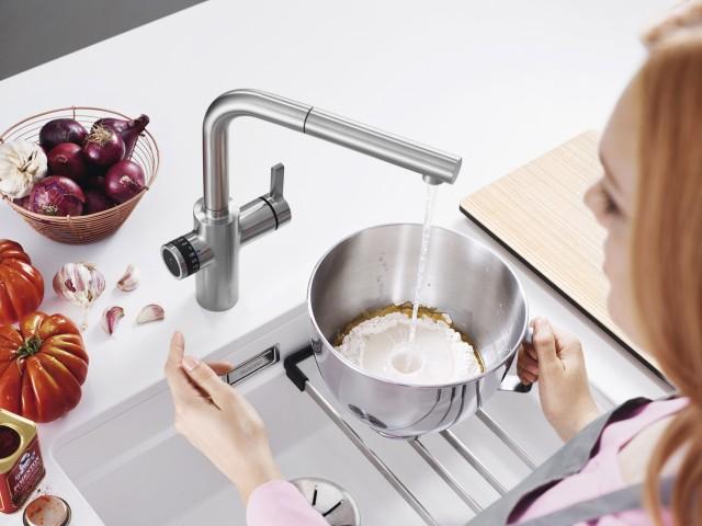 Wasser nach Maß: Mit Küchenarmaturen wie Evol-S Volume ist die Ära der Smart-Armaturen eingeläutet.